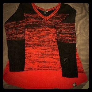 Metal Mulisha Oversized V-Neck Sweater